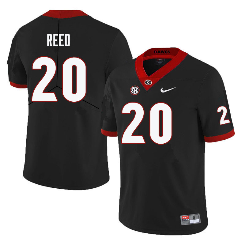 Men #20 J.R. Reed Georgia Bulldogs College Football Jerseys-Black