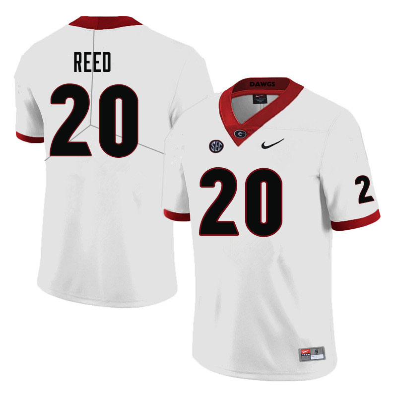 Men #20 J.R. Reed Georgia Bulldogs College Football Jerseys-White