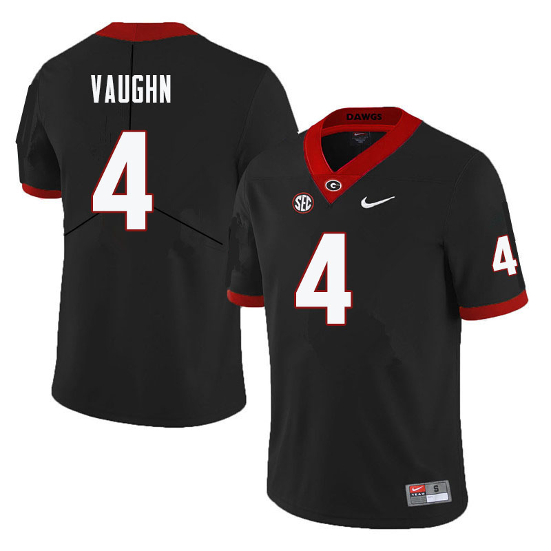 Men #4 Sam Vaughn Georgia Bulldogs College Football Jerseys-Black