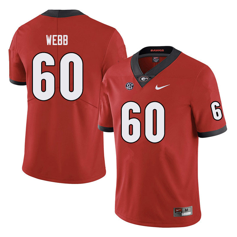 Men #60 Clay Webb Georgia Bulldogs College Football Jerseys Sale-Black