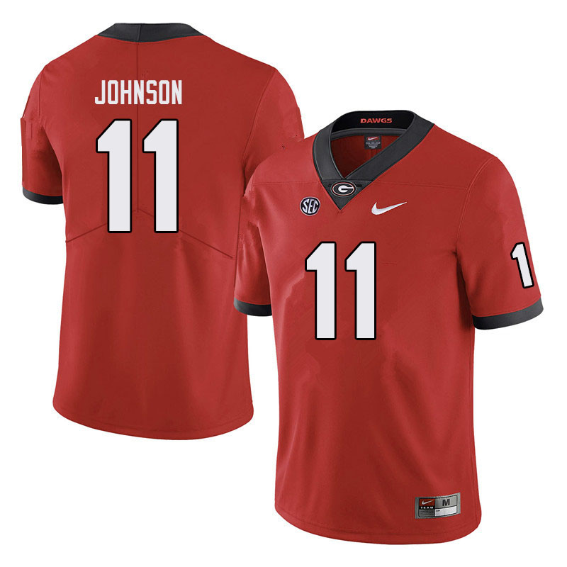 Men #11 Jermaine Johnson Georgia Bulldogs College Football Jerseys Sale-Black