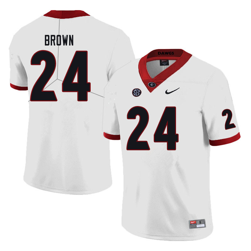 Men #24 Matthew Brown Georgia Bulldogs College Football Jerseys Sale-Black