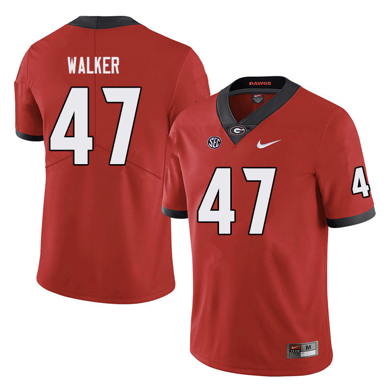 Men #47 Payne Walker Georgia Bulldogs College Football Jerseys Sale-Black