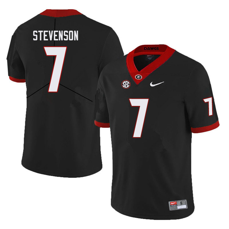 Men #7 Tyrique Stevenson Georgia Bulldogs College Football Jerseys Sale-Black