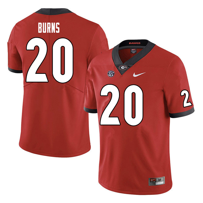 Men #20 Major Burns Georgia Bulldogs College Football Jerseys Sale-Red
