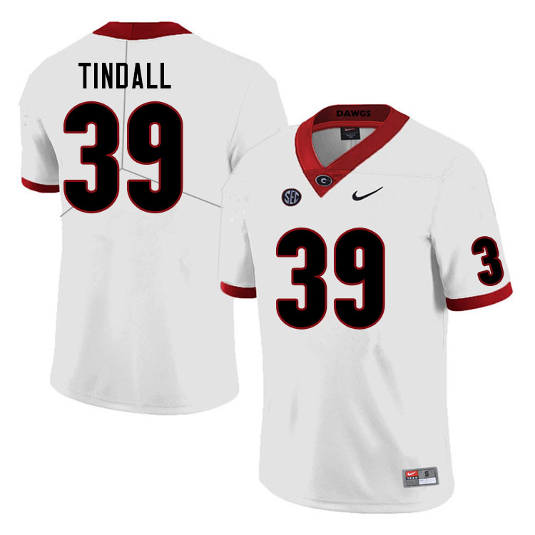 Men #39 Brady Tindall Georgia Bulldogs College Football Jerseys Sale-White