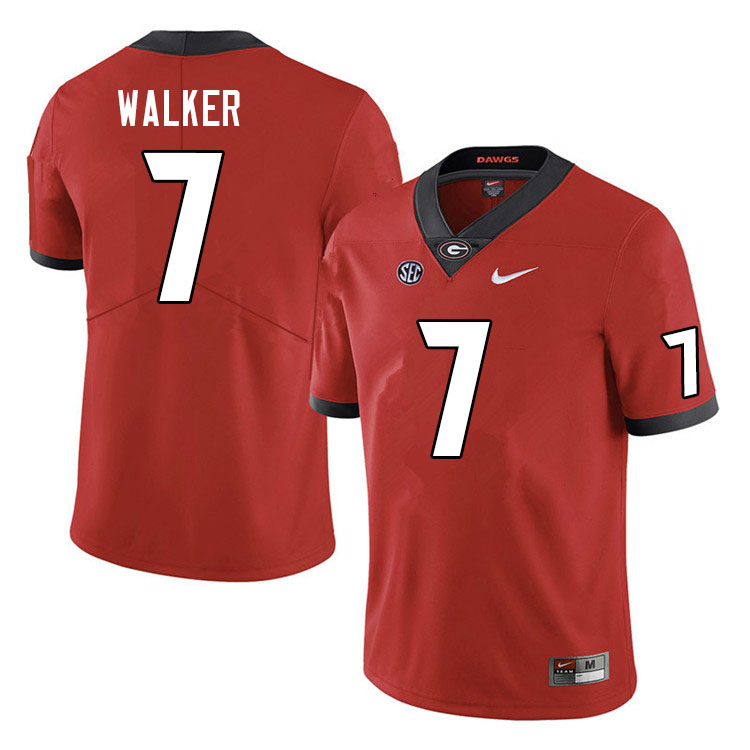 Men #7 Quay Walker Georgia Bulldogs College Football Jerseys Sale-Red