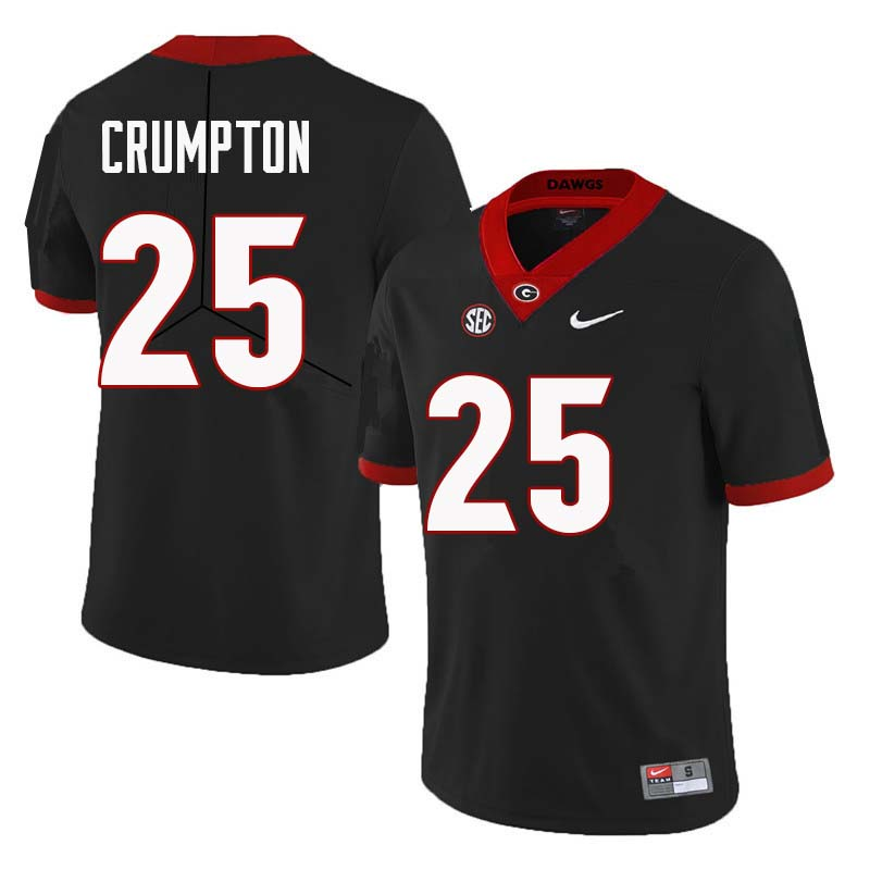 Men Georgia Bulldogs #25 Ahkil Crumpton College Football Jerseys Sale-Black