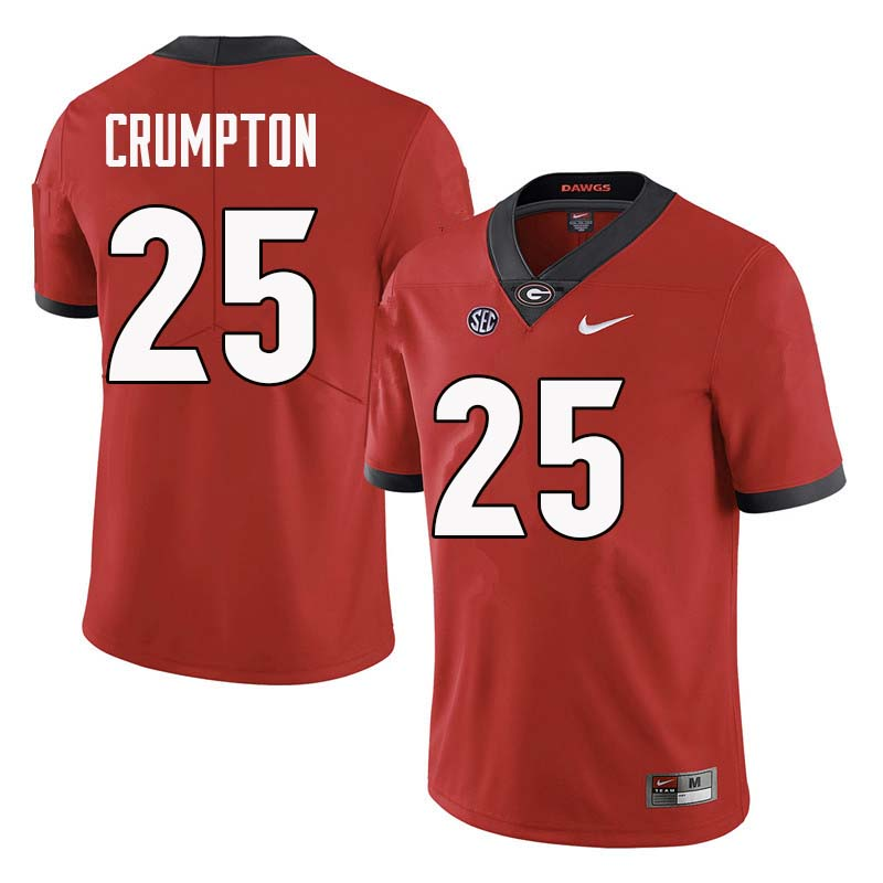Men Georgia Bulldogs #25 Ahkil Crumpton College Football Jerseys Sale-Red