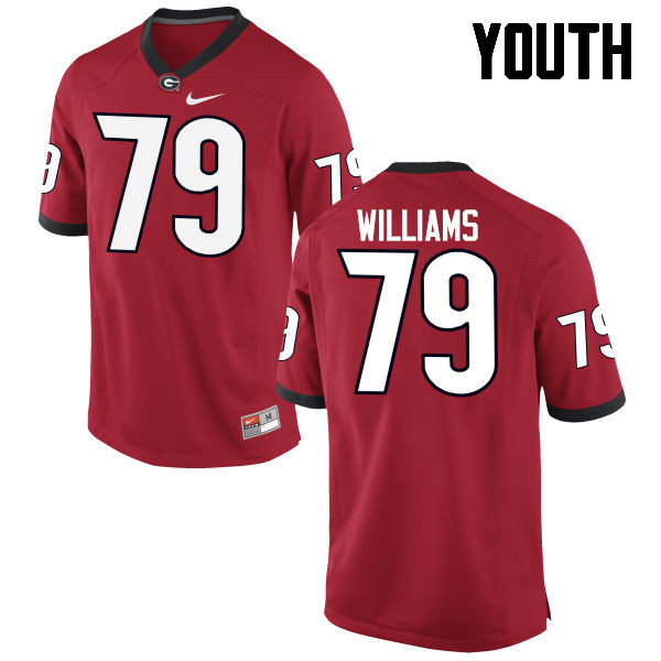 Youth Georgia Bulldogs #79 Allen Williams College Football Jerseys-Red