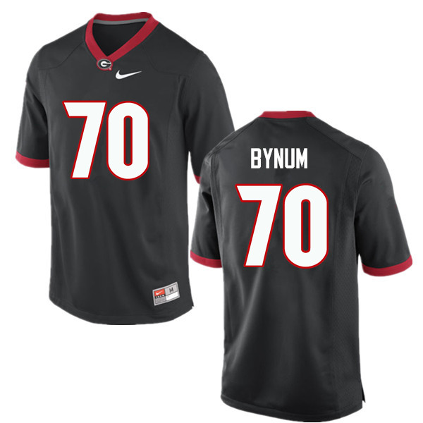 Men Georgia Bulldogs #70 Aulden Bynum College Football Jerseys-Black