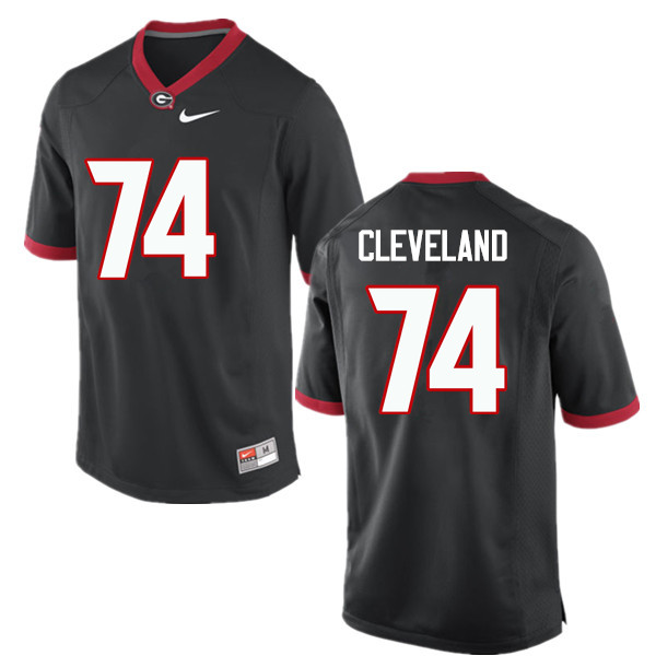 Men Georgia Bulldogs #74 Ben Cleveland College Football Jerseys-Black