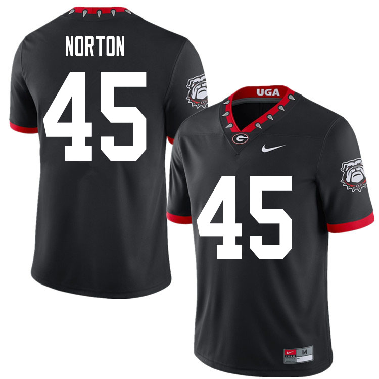 2020 Men #45 Bill Norton Georgia Bulldogs Mascot 100th Anniversary College Football Jerseys Sale-Bla