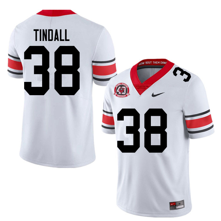 2020 Men #38 Brady Tindall Georgia Bulldogs 1980 National Champions 40th Anniversary College Footbal