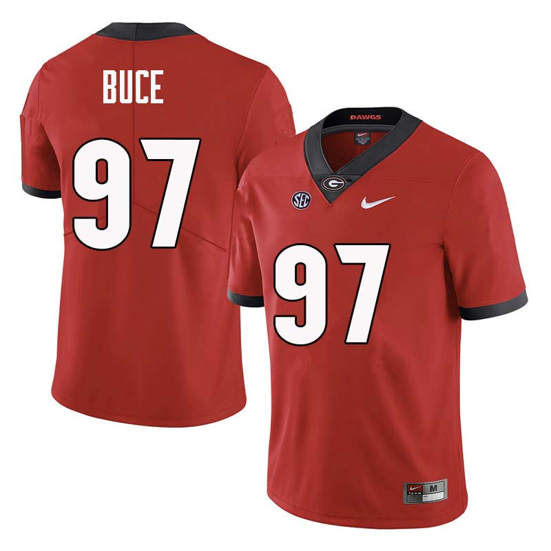 Men Georgia Bulldogs #97 Brooks Buce College Football Jerseys Sale-Red