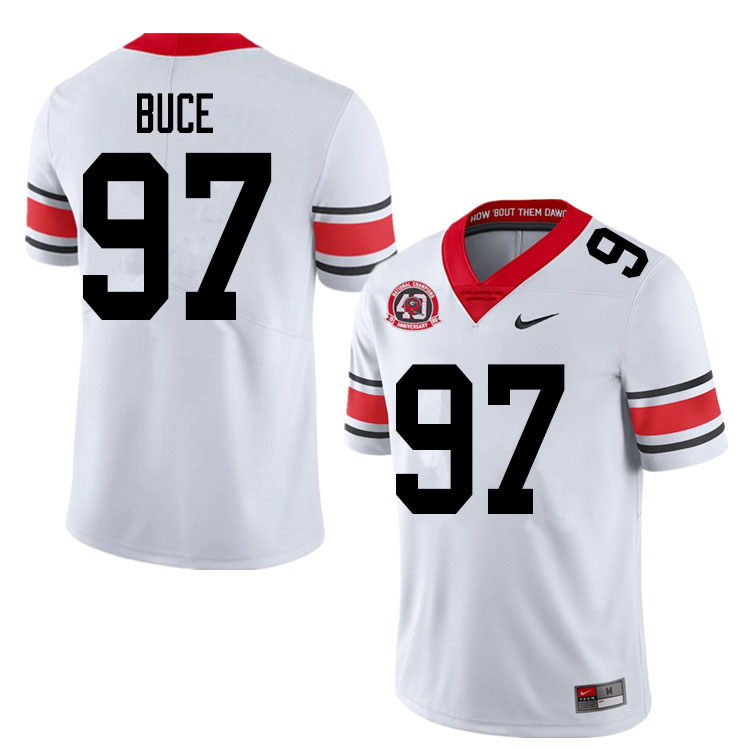 2020 Men #97 Brooks Buce Georgia Bulldogs 1980 National Champions 40th Anniversary College Football