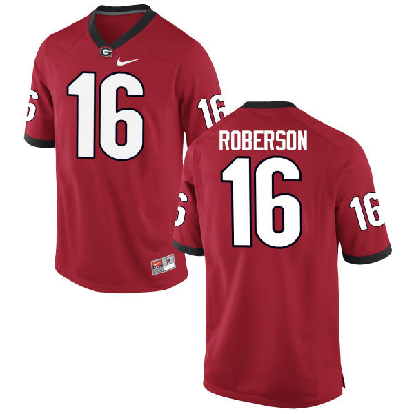 Men Georgia Bulldogs #16 Caleeb Roberson College Football Jerseys-Red