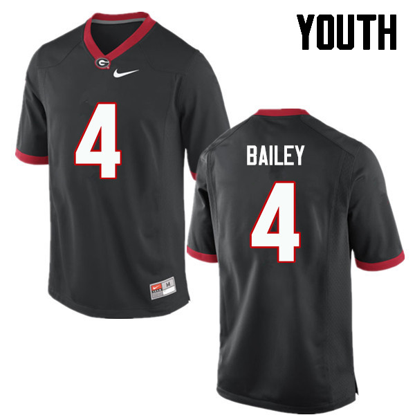 Youth Georgia Bulldogs #4 Champ Bailey College Football Jerseys-Black