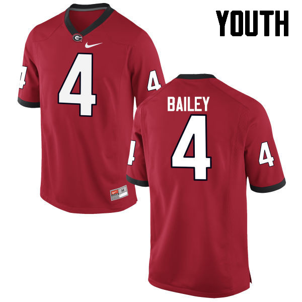 Youth Georgia Bulldogs #4 Champ Bailey College Football Jerseys-Red