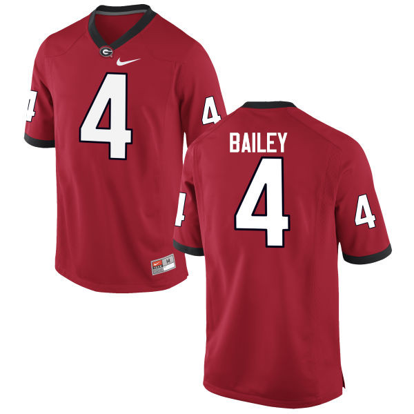 Men Georgia Bulldogs #4 Champ Bailey College Football Jerseys-Red