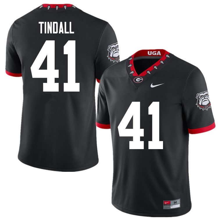 2020 Men #41 Channing Tindall Georgia Bulldogs Mascot 100th Anniversary College Football Jerseys Sal