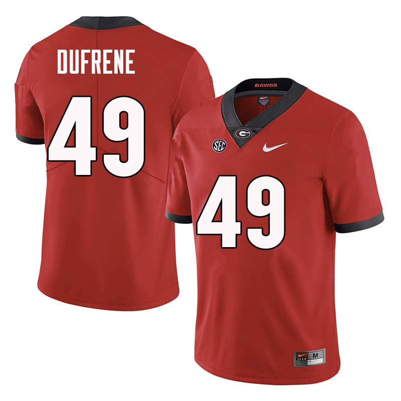 Men Georgia Bulldogs #49 Christian Dufrene College Football Jerseys Sale-Red