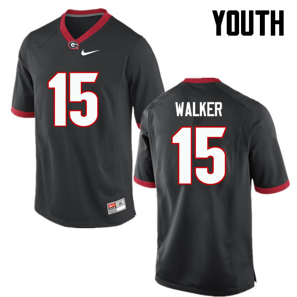 Youth Georgia Bulldogs #15 DAndre Walker College Football Jerseys-Black