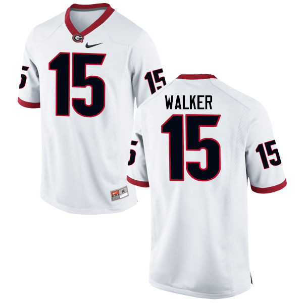 Men Georgia Bulldogs #15 DAndre Walker College Football Jerseys-White
