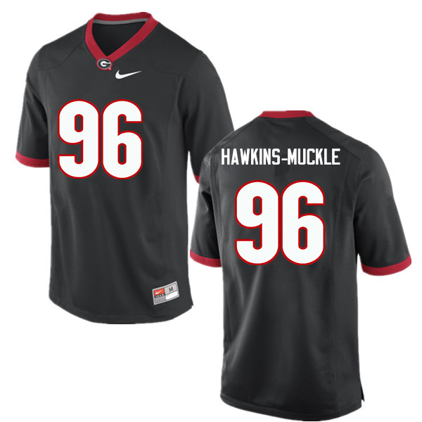 Men Georgia Bulldogs #96 DaQuan Hawkins-Muckle College Football Jerseys-Black