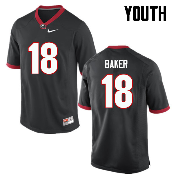 Youth Georgia Bulldogs #18 Deandre Baker College Football Jerseys-Black