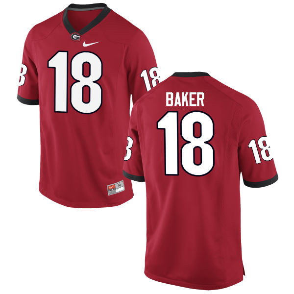Men Georgia Bulldogs #18 Deandre Baker College Football Jerseys-Red