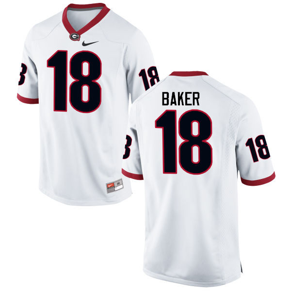Men Georgia Bulldogs #18 Deandre Baker College Football Jerseys-White