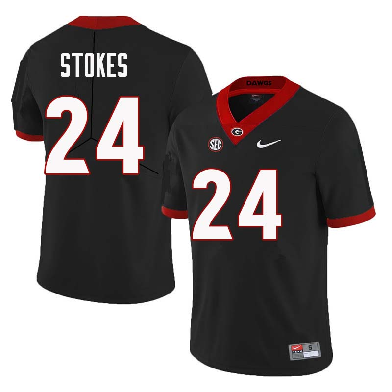 Men Georgia Bulldogs #24 Eric Stokes College Football Jerseys Sale-Black