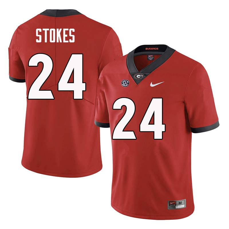 Men Georgia Bulldogs #24 Eric Stokes College Football Jerseys Sale-Red