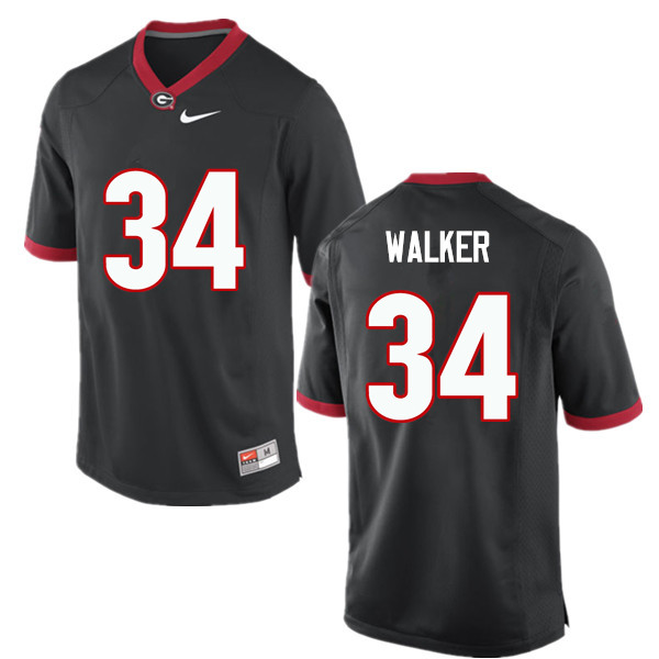 Men Georgia Bulldogs #34 Herschel Walker College Football Jerseys-Black