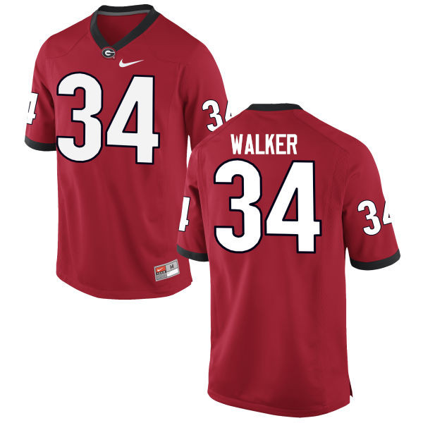 Men Georgia Bulldogs #34 Herschel Walker College Football Jerseys-Red