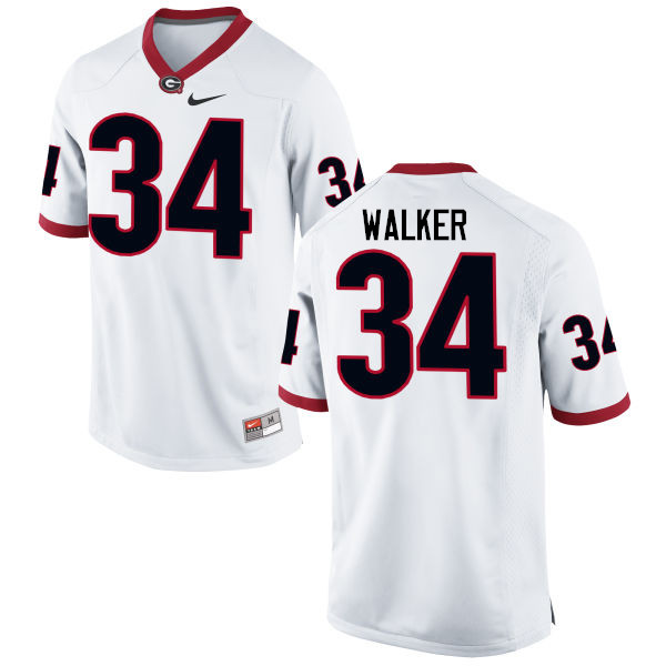 Men Georgia Bulldogs #34 Herschel Walker College Football Jerseys-White