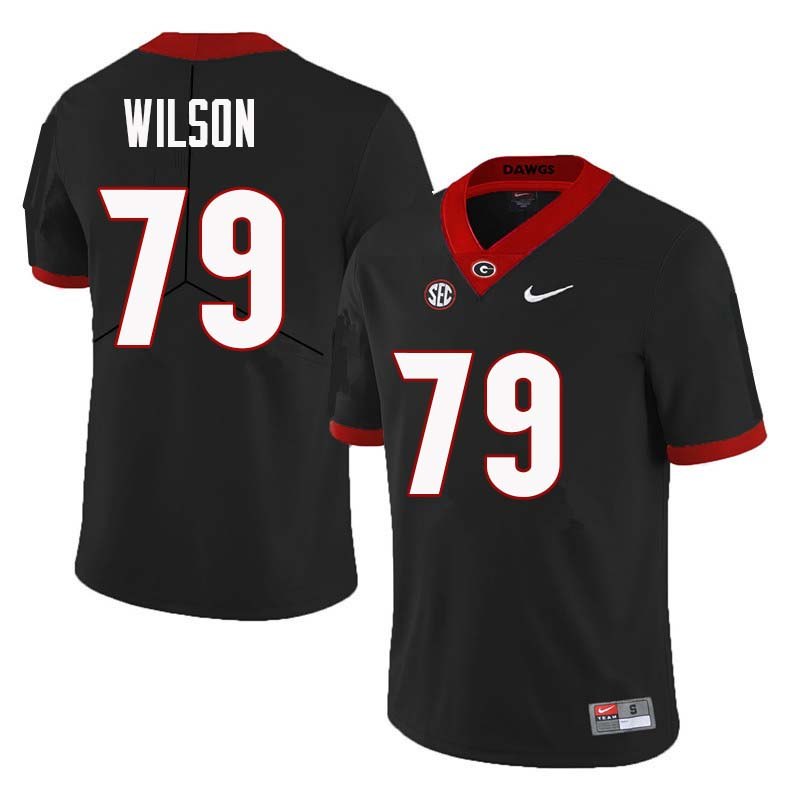 Men Georgia Bulldogs #79 Isaiah Wilson College Football Jerseys Sale-Black