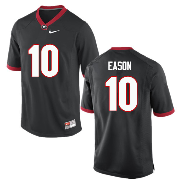 Men Georgia Bulldogs #10 Jacob Eason College Football Jerseys-Black