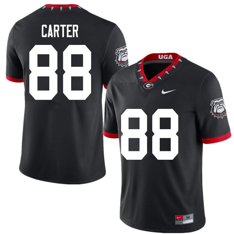 2020 Men #88 Jalen Carter Georgia Bulldogs Mascot 100th Anniversary College Football Jerseys Sale-Bl