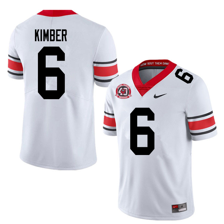 2020 Men #6 Jalen Kimber Georgia Bulldogs 1980 National Champions 40th Anniversary College Football