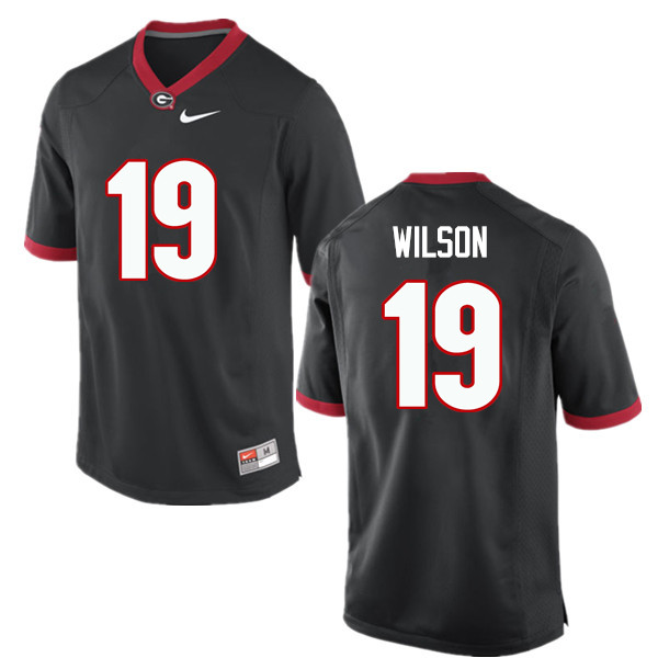 Men Georgia Bulldogs #19 Jarvis Wilson College Football Jerseys-Black