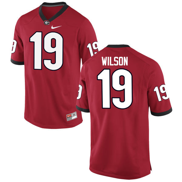 Men Georgia Bulldogs #19 Jarvis Wilson College Football Jerseys-Red
