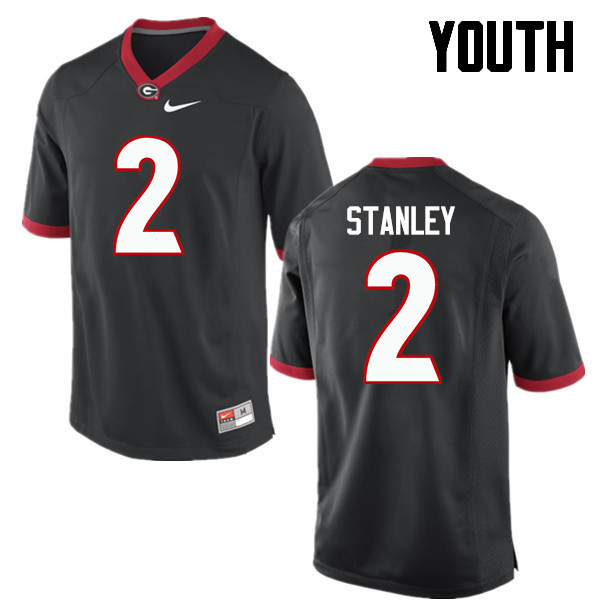 Youth Georgia Bulldogs #2 Jayson Stanley College Football Jerseys-Black