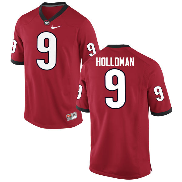 Men Georgia Bulldogs #9 Jeremiah Holloman College Football Jerseys-Red