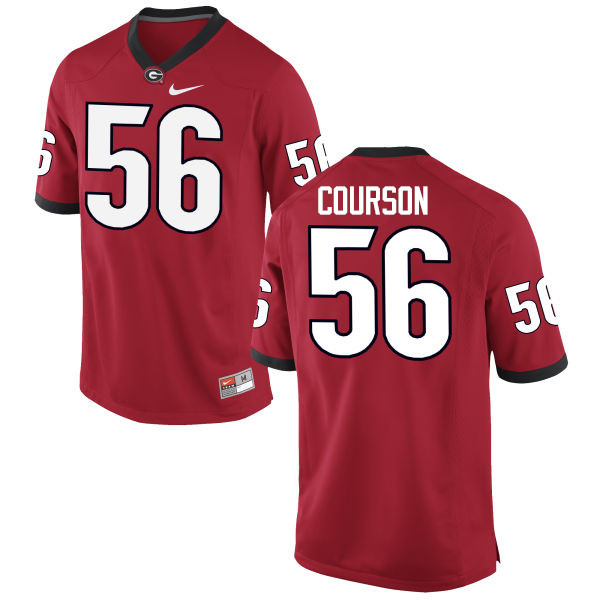 Men Georgia Bulldogs #56 John Courson College Football Jerseys-Red