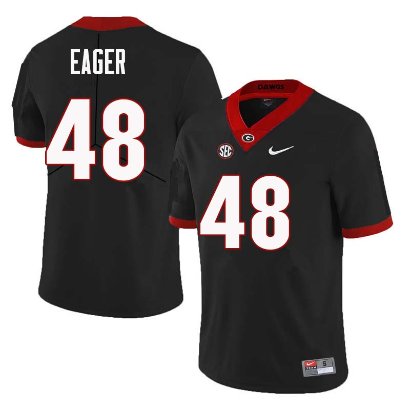 Men Georgia Bulldogs #48 John Eager College Football Jerseys Sale-Black