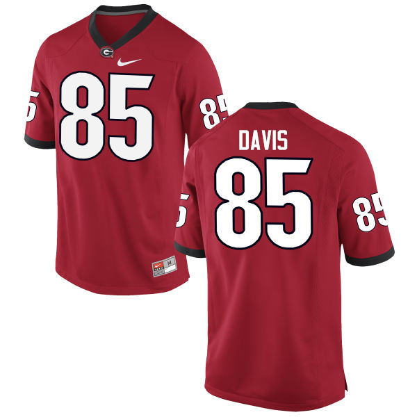 Men Georgia Bulldogs #85 Jordan Davis College Football Jerseys-Red
