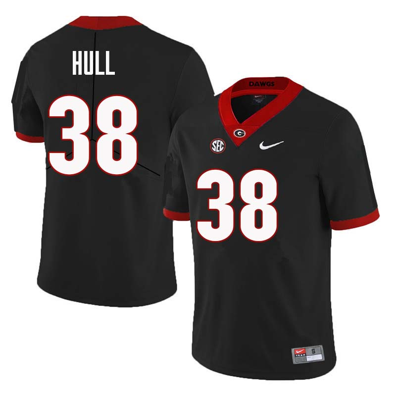 Men Georgia Bulldogs #38 Joseph Hull College Football Jerseys Sale-Black