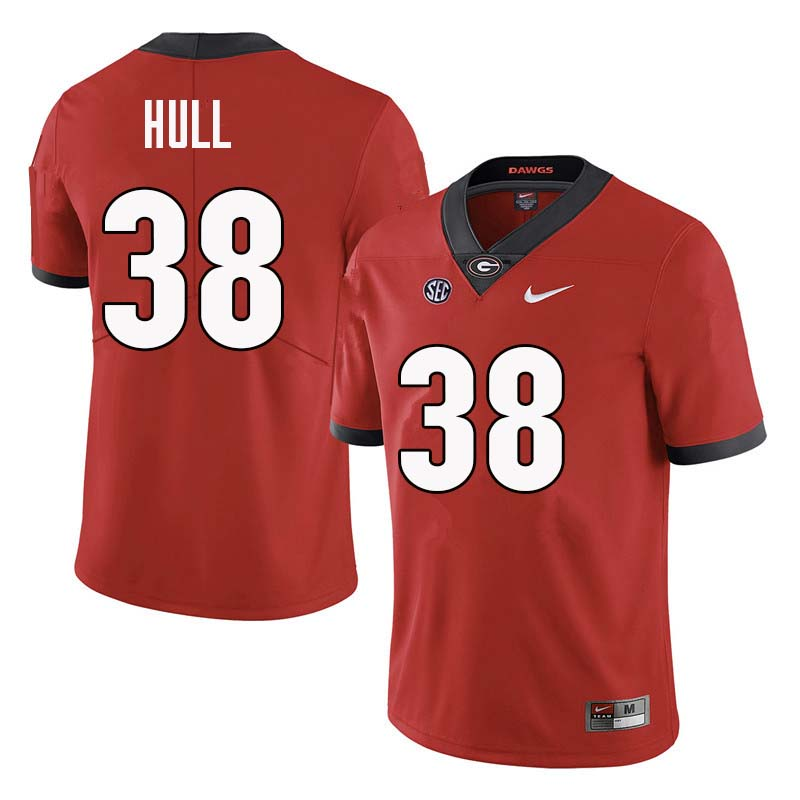 Men Georgia Bulldogs #38 Joseph Hull College Football Jerseys Sale-Red